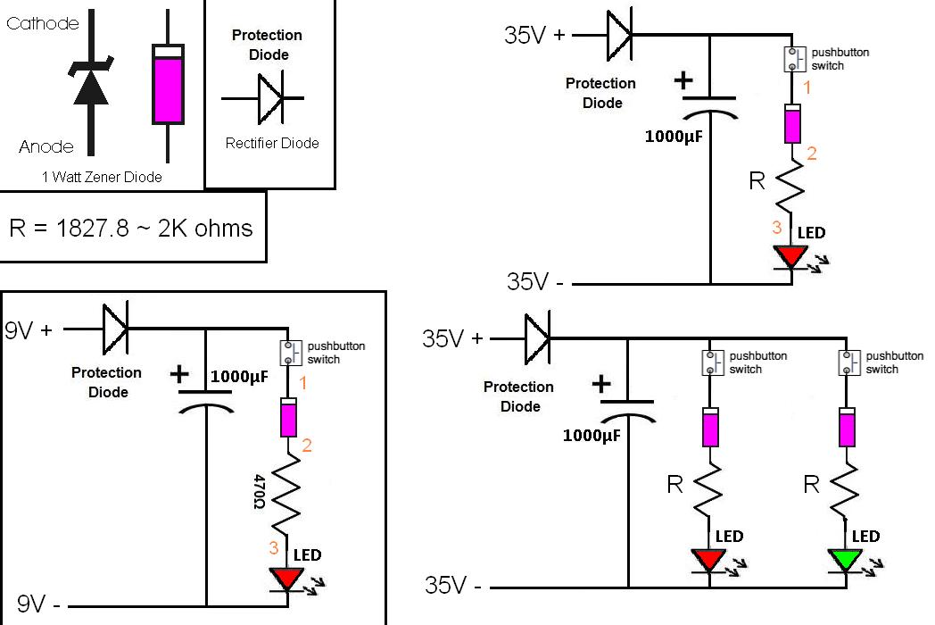 simple   led circuit to confirm when a capacitor is charged - general chat  u0026 discussion